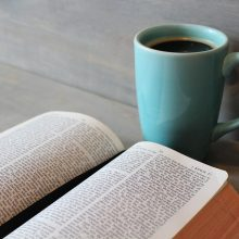 Picture of bible and cup of coffee
